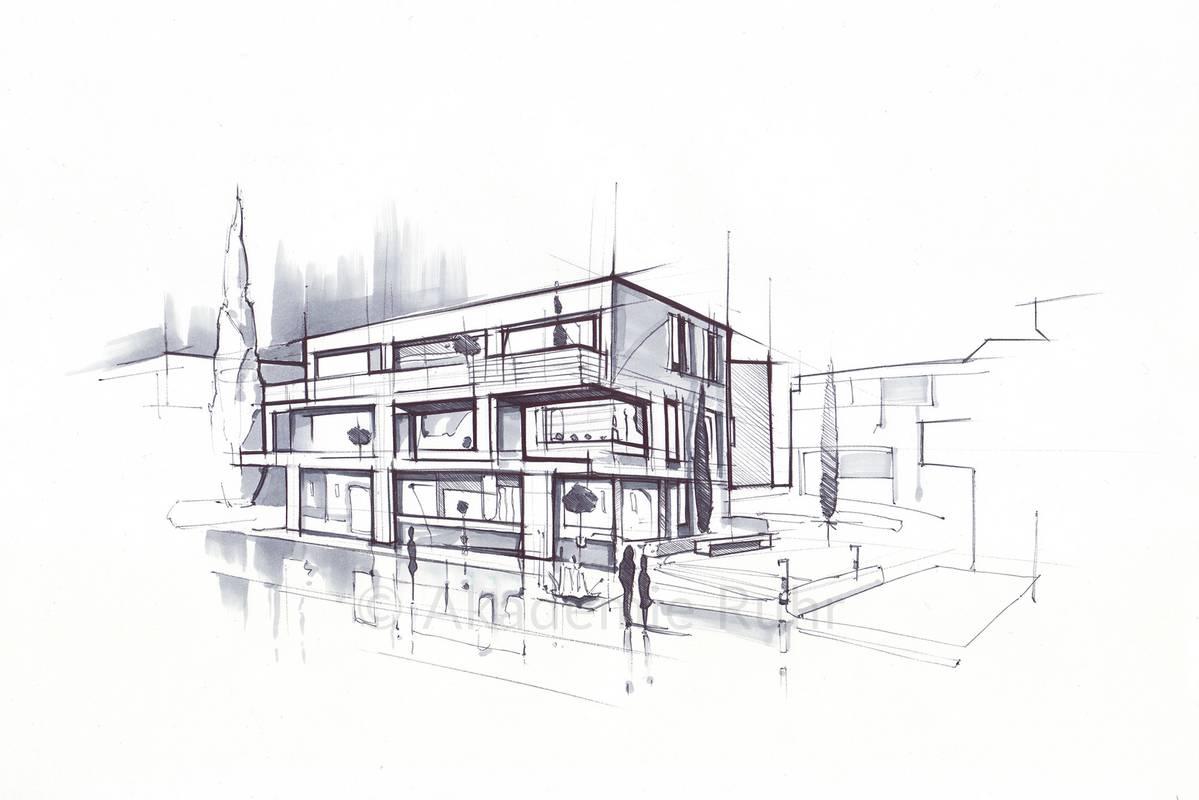 Architektur Zeichnungen   Akademie Ruhr