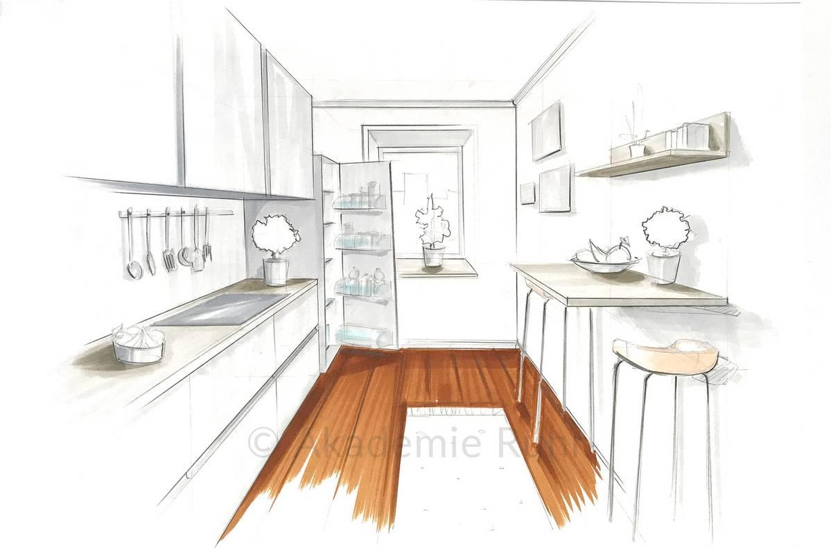 Küchen-Zeichnungen  Akademie Ruhr