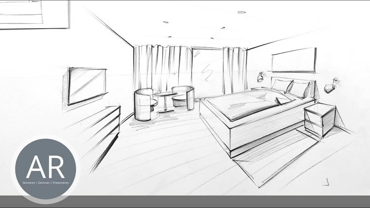 Ganz einfach Räume in Perspektive zeichnen lernen. Schritt für ...